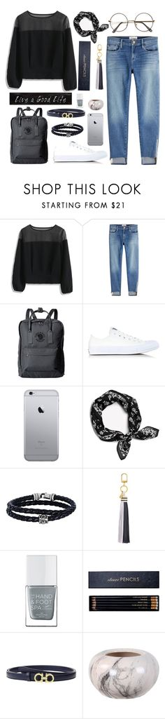 """""""Untitled #28"""" by xxabella ❤ liked on Polyvore featuring Chicwish, Frame, Fjällräven, Converse, rag & bone, Phillip Gavriel, Tory Burch, The Hand & Foot Spa, Sloane Stationery and Salvatore Ferragamo"""