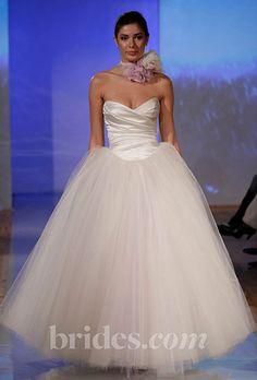 Brides.com: Fall 2013 Wedding Dress Trends. Trend: Sleek, Minimalist Wedding Dresses. Gown by Birnbaum and Bullock  See more Birnbaum and Bullock wedding dresses in our gallery.