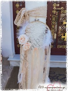 Altar, Lace Dream Catchers, Baptism Candle, Ladder Decor, Diy Wedding, Fairy Tales, Wedding Decorations, Arts And Crafts, Flower Girl Dresses