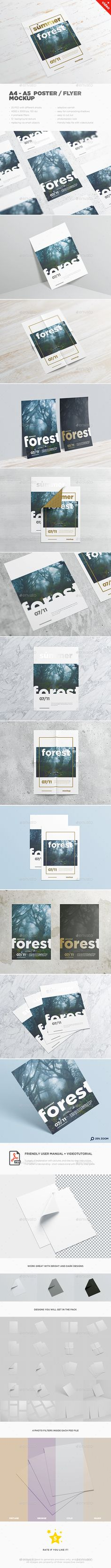 A4 - A5 Poster / Flyer-MockUp. Download here: http://graphicriver.net/item/a4-a5-poster-flyermockup-/15116213?ref=ksioks