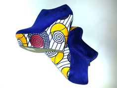 Waterproof African Print Shoes UK 6 by African Septs, available at Etsy.com £39.99