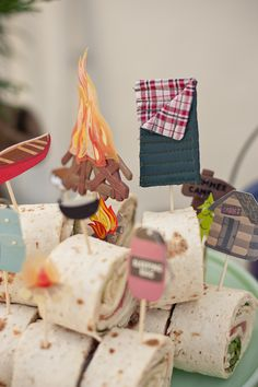 camping themed party--really cute ideas