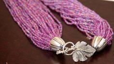 Montaje fácil de un collar con varios hilos de mostacillas