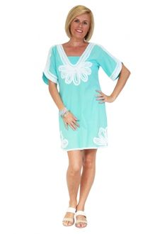 CLOTHING :: Lucciola Embroidered Sam Dress- Aqua - Aqua, Spring, Clothing, Dresses, Outfits, Vestidos, Water, Outfit Posts, Dress