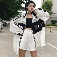 Korean Outfits, Short Outfits, Girl Outfits, Cute Outfits, Fashion Outfits, Kawaii Fashion, Girl Fashion, Fashion Design, Skater Outfits