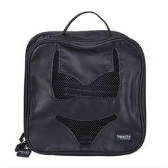 Lapoche Lingerie Tote: Black - $35.00 #lingerietote #lingeriebag #luggageorganiser