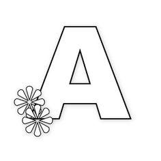 Moldes de letras do alfabeto para painel e mural - moldes de letras para eva ou feltro - letras primavera alfabeto flores - Alfabetos Lindos