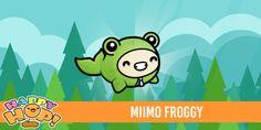 Miimo Froggy from #HappyHop! @PlatonicGames https://itunes.apple.com/app/id1087482860 | platonicgames.com