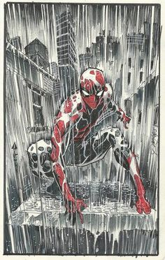 Spiderman by Dan-Mora on DeviantArt Marvel Comics, Comics Anime, Bd Comics, Marvel Heroes, Marvel Avengers, Art Spiderman, Amazing Spiderman, Spiderman Poses, Comic Books Art