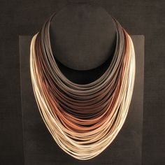 Necklace | Luisa Herculaneaum.  Leather
