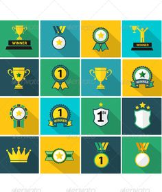 Set of Fflat Trophy and Prize Icon | Buy and Download: http://graphicriver.net/item/set-of-fflat-trophy-and-prize-icon-/8160976?WT.ac=category_thumb&WT.z_author=athikan&ref=ksioks