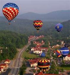 Hot air balloons over Helen! YES!!! On my bucket list! Just told my husband today we need to do this to celebrate our 30th wedding anniversary (May 18, 2015) if not before! :D