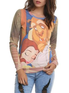 Amazon.com: Disney Beauty And The Beast Girls Pullover Top: Clothing