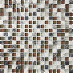 Cabernet Glass Stone Blend Mosaics - 5/8 Inches x 5/8 Inches