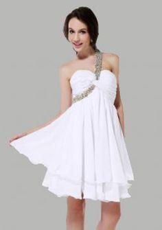 une ligne-un-aimée épaule court / mini robes de bal de courtes