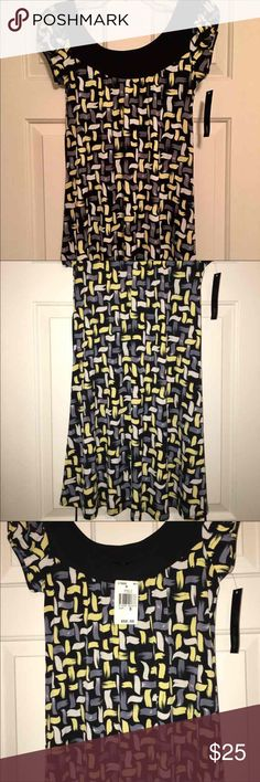 NWT Summer Dress NWT - CUTE SUMMER DRESS.  Dress it up with heels or throw on pair of cute sandals.   Size Small. Love the colors and can be worn by anyone, even for pregnant women.  I think it's Great for Maternity Wear!!    Depends on height, but comes right above knees Dresses Midi