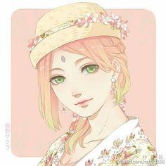 Haruno Sakura. I really don't like her, but this pic so beautiful!