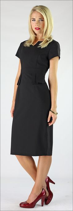 Audrey - Peplum Dress *CLEARANCE* [MDF2483] - $41.99 : Mikarose Boutique, Reinventing Modesty