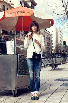 Blanca Suárez in PB jeans on Vogue.es