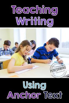 Anchor text is an awesome way to teach writing in the upper grades. This blog posts includes info on how to use anchor text in your writing lesson and how to cite sources.