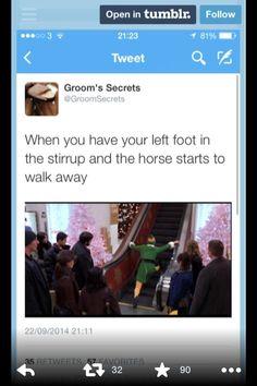 Ha! It's so true. #horsepersonproblems