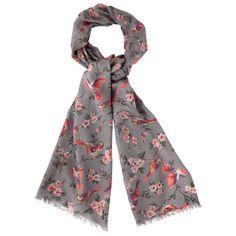 British Birds Patterned Wool Scarf | Cath Kidston | #CKCrackingChristmas