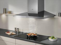 AEG Pure Black kookplaat, zones worden pas zichtbaar als de kookplaat wordt aangezet.