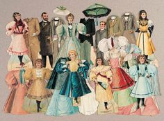 View Catalog Item - Theriault's Antique Doll Auctions Lot: 212. American Advertising Paper Dolls and Costumes for McLaughlin Coffee