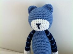les doudous sans visage: mimya le chat version bleu