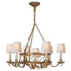 Check out this item at One Kings Lane! Margarite 7-Light Chandelier, Gilded