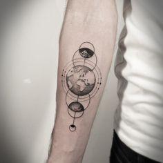 Fabulous Earth Tattoos For Men