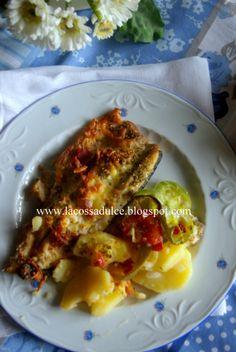 La cossa dulce: Truchas al horno con verduras, jamón y queso