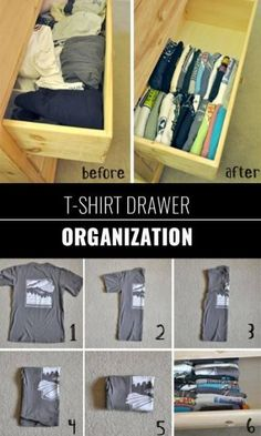 DIY Closet Organization Ideas for Messy Closets and Small Spaces. DIY Closet Organization Ideas for Messy Closets and Small Spaces. Organizing Hacks and Homemade She Small Room Organization, Dresser Organization, Small Closet Organization, Small Space Storage, Organization Hacks, Organizing Drawers, Clothing Organization, Clothes Storage Ideas For Small Spaces, Organization Ideas For Bedrooms