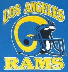 Vintage 1980s LA Los Angeles Rams Football NFL T-Shirt NOS