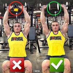 DON'T TOUCH DUMBBELLS by @apfau - Its very tempting to touch the dumbbells at the top of the dumbbell shoulder press. It gives some satisfaction when you hear that click at the top of the movement as an indication that you have successfully completed the rep. However touching them doesnt do anything in terms of further stimulating your shoulders. The dumbbells will also typically bounce a bit off of each other and throw off your range of motion. You can do it however youd like but keeping…