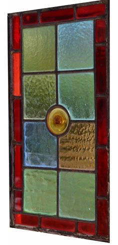 Victorian stained glass Panel, circa 1900 (8.75 by 15.75 inches)