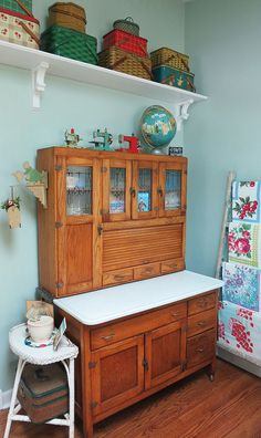 Another view of Susan's craft room - T-Party Antiques blog