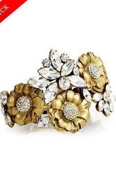 Elizabeth Cole Gold And Crystal Bracelet