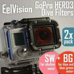 GoPro HERO3 Dive Filters (2 pack: BG+SW) Red / Diving / Underwater Color Correction - http://electmecameras.com/camera-photo-video/accessories/filters/gopro-hero3-dive-filters-2-pack-bgsw-red-diving-underwater-color-correction-com/