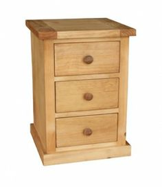 Danish Pine 3 Drawer Bedside Table