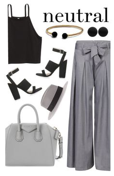 """neutral"" by dn-dffn ❤ liked on Polyvore featuring Givenchy, Topshop, Thomas Sabo, Maison Michel and David Yurman"