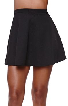 90910afcd2 Charlotte Russe Oxblood Pleated Faux Leather Skater Skirt by Charlotte...  ($25) ❤ liked on Polyvore featuring skirts, oxblood, faux leather…