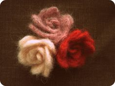 The Pickled Herring: Felted Flower Tutorial