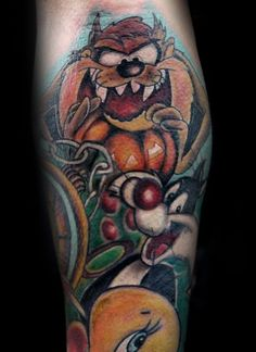 576b23f03 60 Looney Tunes Tattoos For Men - Animated Cartoon Ink Ideas ...