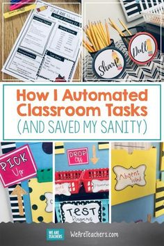 How I Automated Classroom Tasks (and Saved My Sanity). Do you ever feel like you are drowning in paperwork as a teacher? Here's how to set up a classroom business center and increase classroom automation. - Kids education and learning acts Classroom Setting, Classroom Setup, Music Classroom, Future Classroom, Classroom Activities, Forest Classroom, Classroom Routines, Autism Activities, Sorting Activities