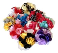 NEWLY LISTED - 2 toned satin layered flowers!