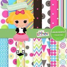 Lalaloopsy Digital Paper Lalaloopsy Printable by DigitalPaperStore