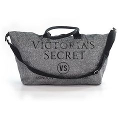 Pre-owned Victoria's Secret Pink Weekender: Gray Women's Bags ($22) ❤ liked on Polyvore featuring bags, luggage and grey