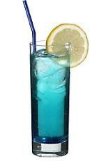 Polar Bear...  •1 shot Vodka   •1 shot Blue Curacao   • Lemon-Lime Soda (to fill)   •Garnish: Lemon Slice