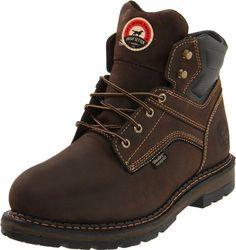 Irish Setter Work Men's 83601 Work Boot Irish Setter. $146.95. Rubber/EVA Comfort Trek outsole. Direct attach construction. leather. UltraDry(tm) waterproof system. Full grain leather upper. Rubber sole. Removable polyurethane footbed